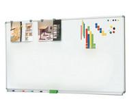 Langwandtafeln als Whiteboard ohne Ablage, Stahlemaille