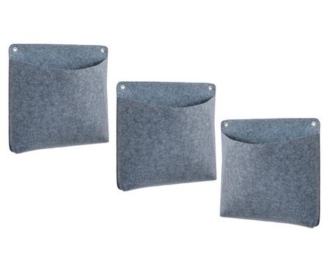 Materialtasche quadratisch 3 Stueck