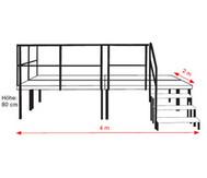 Komplettset Schulbühne für Außenbereich (Siebdruckplatte wetterfest)