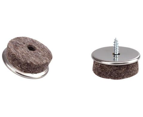 Moebelgleiter aus vernickeltem Eisen