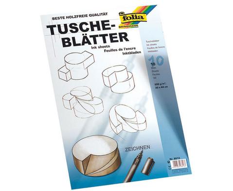 Tuscheblaetter 200 g-m2 10 Blatt-1