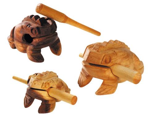 Frosch-Guiros mit Schlaegel