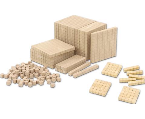 Zehnersystem-Teile aus RE-WOOD