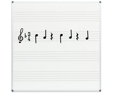 Whiteboard Notentafel