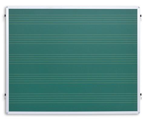 Einhaengetafel mit Notensystemen gruen