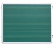 Einhängetafel mit Notensystemen, grün