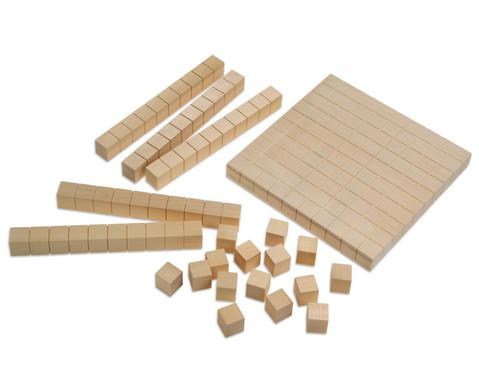 Riesen-Zehnersystemsatz aus Holz