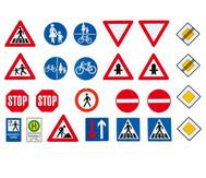 Große Verkehrszeichen