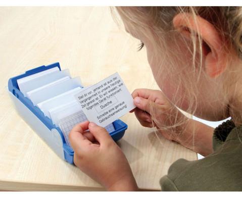 Lernkartei-Kasten und Lernkarten-2