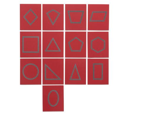 Sandpapier - geometrische Formen im Holzkasten-1