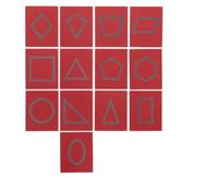 Sandpapier - geometrische Formen im Holzkasten