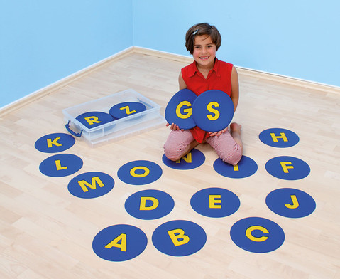 26 rutschfeste Buchstaben-Matten