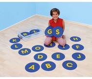 Rutschfeste Buchstaben-Matten, 26 Stück
