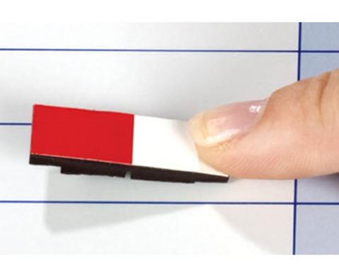 Lehrermagnet 10 x 30 mm halb farbig-halb weiss