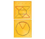 Geometrieboard B, doppelseitig 17,5 cm