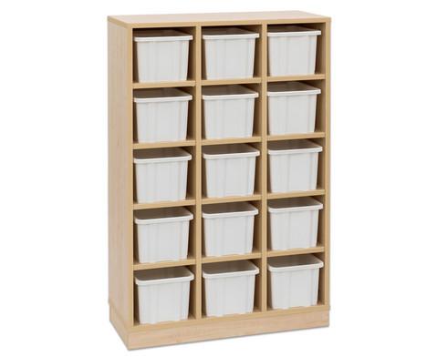 Garderoben-Fachregale CHIPPO mit weissen Boxen