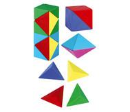 Betzold Magnetwürfel aus 24 farbigen Tetraedern