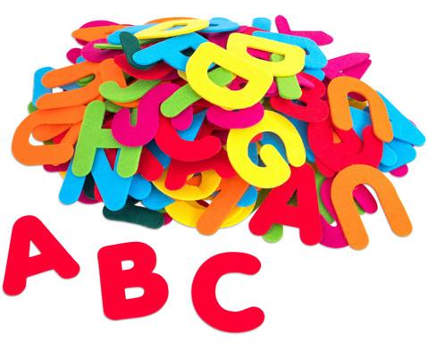 Filz-Buchstaben bunt 150 Stueck