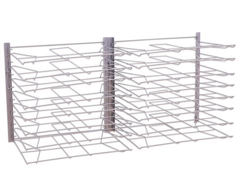 Trocknungsgestell zur Wandmontage silber-3