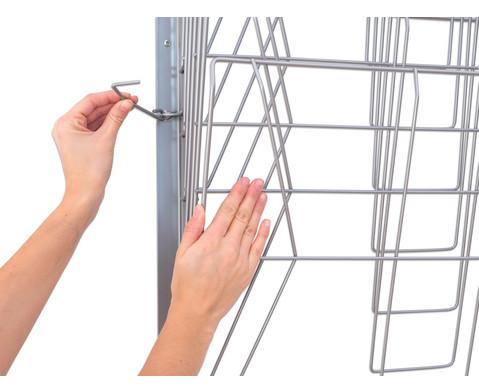 Trocknungsgestell zur Wandmontage silber-5