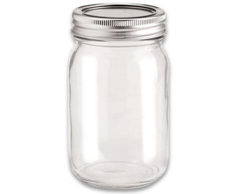 Deko-Glas mit 2-tlg Deckel
