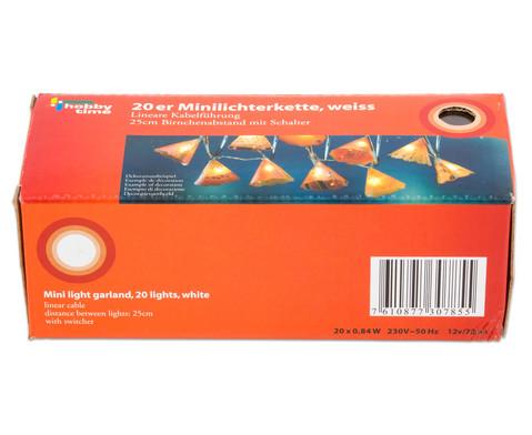 Mini-Lichterkette weiss 20 Lichter mit Schalter-2
