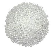 Weiße Perlmutt-Perlen aus Kunststoff, 200g