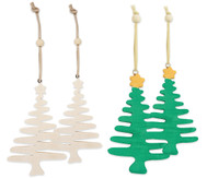 Weihnachtsbäume Anhänger, 4 Stück