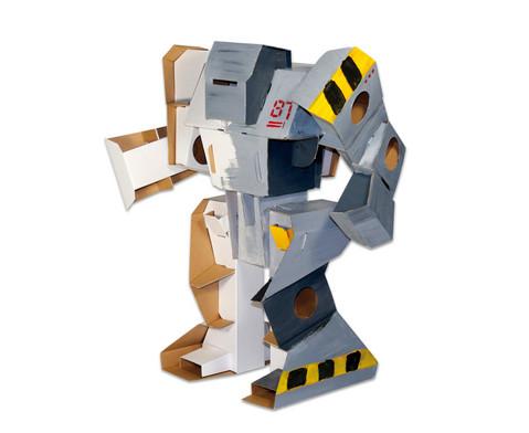 Roboter aus Pappe zum Selbstgestalten-3