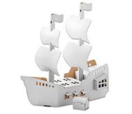 Piratenschiff aus Pappe zum Selbstgestalten