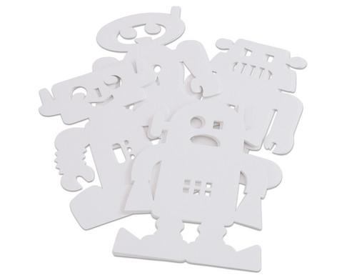 Stehende Roboter 24 Stueck aus Karton-2