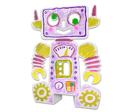 Stehende Roboter 24 Stueck aus Karton-7