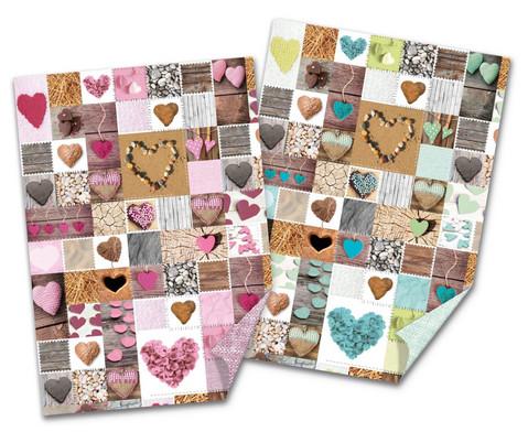 Fotokarton Herzen verschiedene Farben