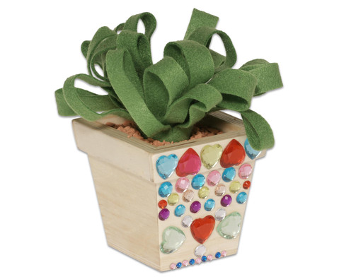 Blumentoepfe aus Holz 2 Stueck-6