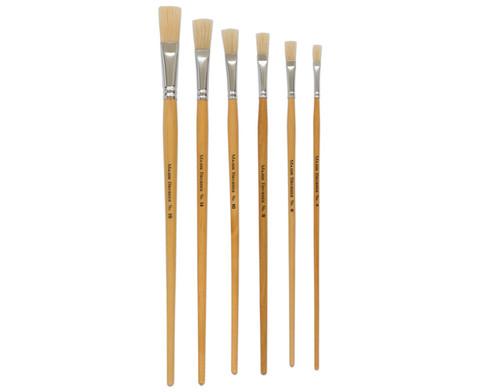 Betzold Borstenpinsel-Set 6 Stueck mit langem Stiel