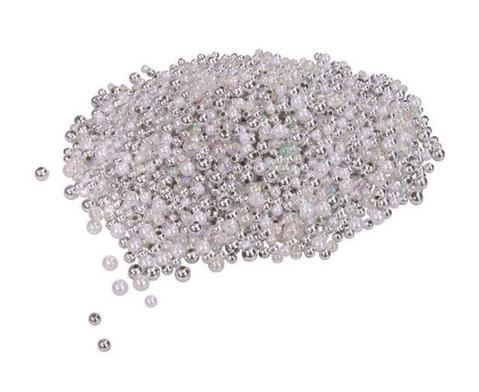 Metallicperlen-Set Silber-Toene