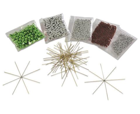 Drahtsterne-Set Silber-Braun-Gruen-3