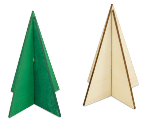 Weihnachtsbaum 3D 6 Stueck