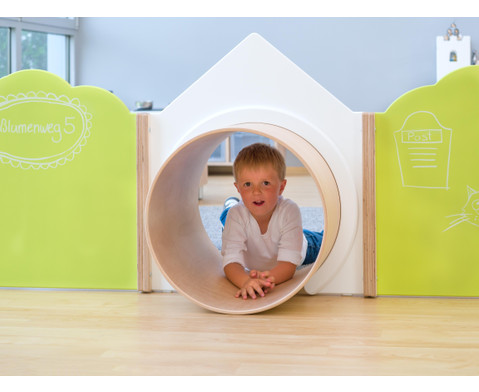 EduCasa Trennwand Haus mit Tunnel-3