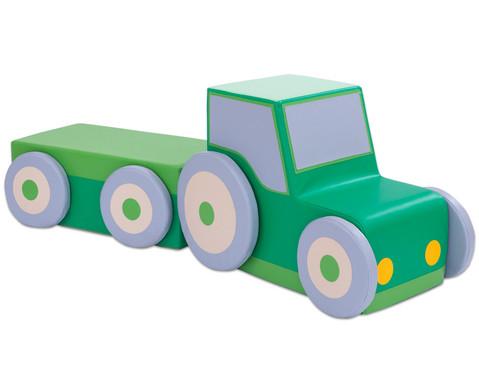 Polster-Traktor mit Anhaenger-1