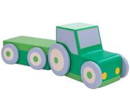 Polster-Traktor mit Anhänger