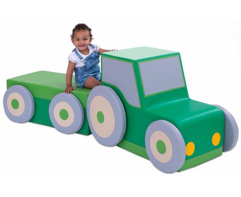 Polster-Traktor mit Anhaenger-2