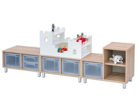 EduCasa Kombination mit Flexeo Boxen und Ritterburg-2