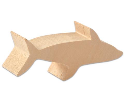 Schnitzrohlinge 3er-Set Seestern Hai Delfin-3