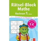 Rätsel-Block Mathe - Rechnen 1. Klasse