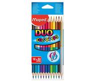 Duo-Buntstifte, 12 Stück