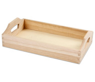 Serviertablett aus Holz