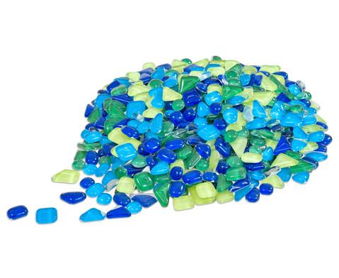 edumero Mosaiksteine Softglas grün-blau, 200g