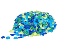 Mosaiksteine Softglas grün-blau, 200g
