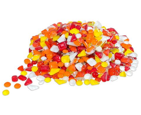 Mosaiksteine Softglas gelb-rot 200 g